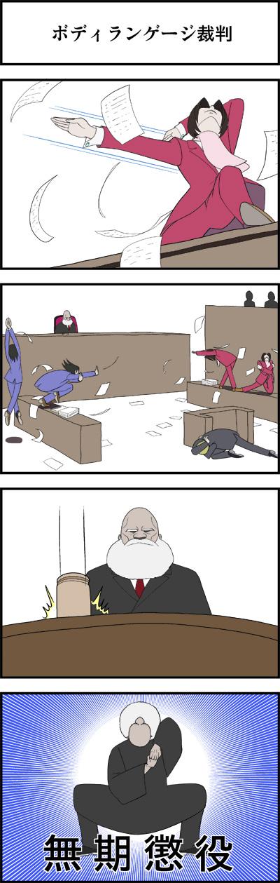 ボディランゲージ裁判